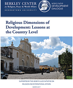 Religious Dimensions of Development: Lessons at the Country Level