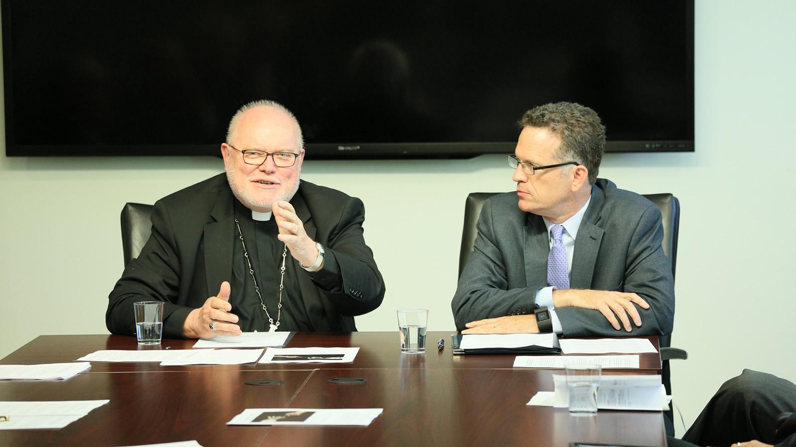 Thomas Banchoff Listens to Cardinal Reinhard Marx
