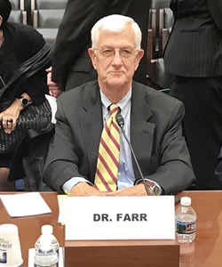 Farr Testifies on Capitol Hill