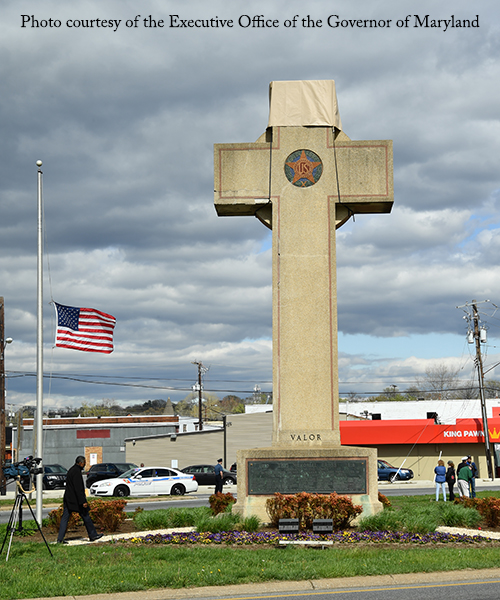 Peace Cross in Bladensburg, Maryland, courtesy of Executive Office of the Governor of Maryland