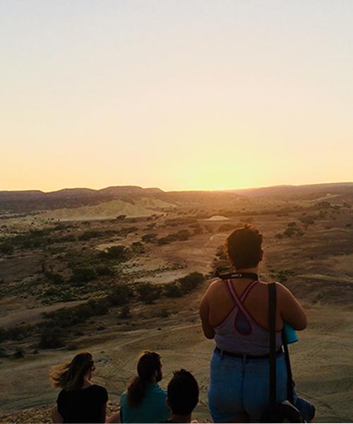 People Watching a Sunrise in Israel