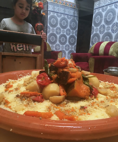 Bowl of Couscous with Vegetables
