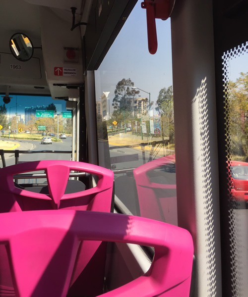 Taking Pink Buses in Mexico City
