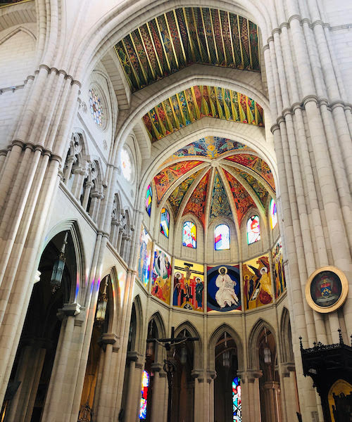 La Catedral de La Almudena in Madrid, Spain.
