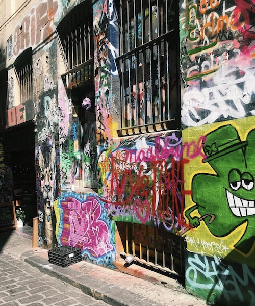 A decorated laneways in Melbourne.