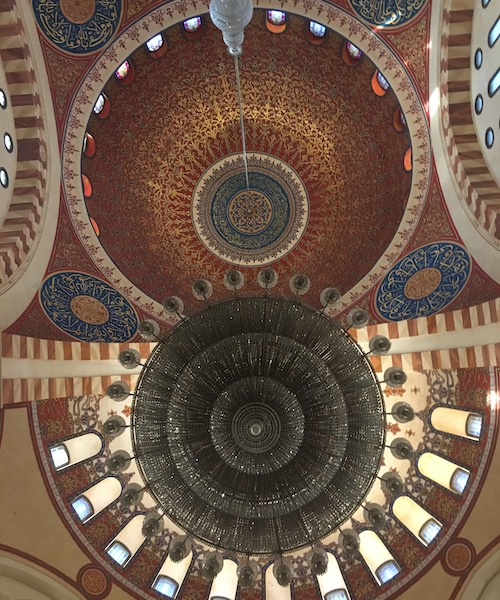 The ceiling of the Mohammed al-Amin Mosque in Beirut, Lebanon