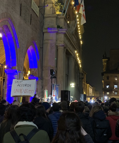 Student protest in Bologna, Italy