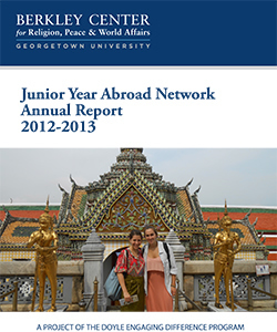 Junior Year Abroad Network Annual Report 2012-2013
