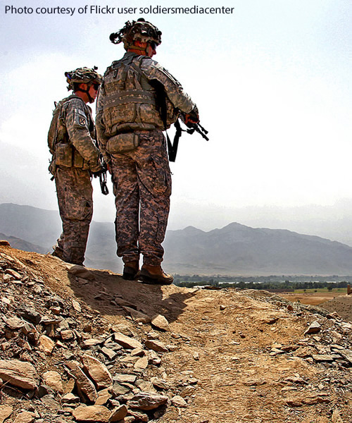 United States Army soldiers in Konar Province, Afghanistan in 2009