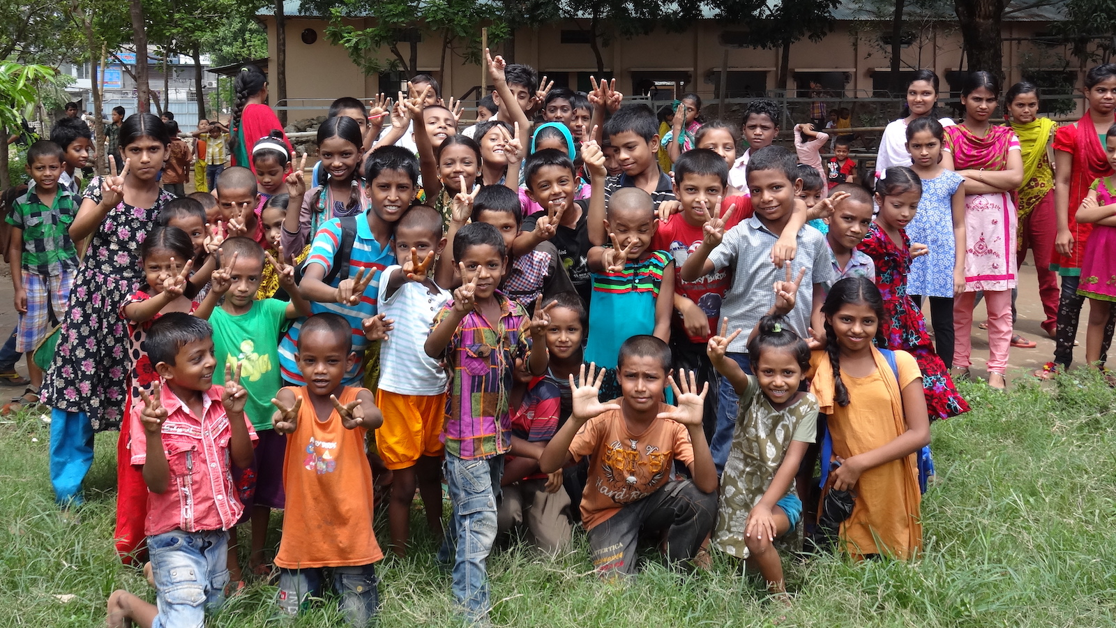 A group of children in Bangladesh