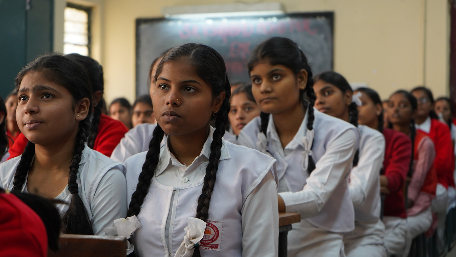 Girls in school in Bangladesh.