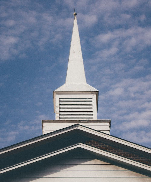 Steeple of a Baptist church