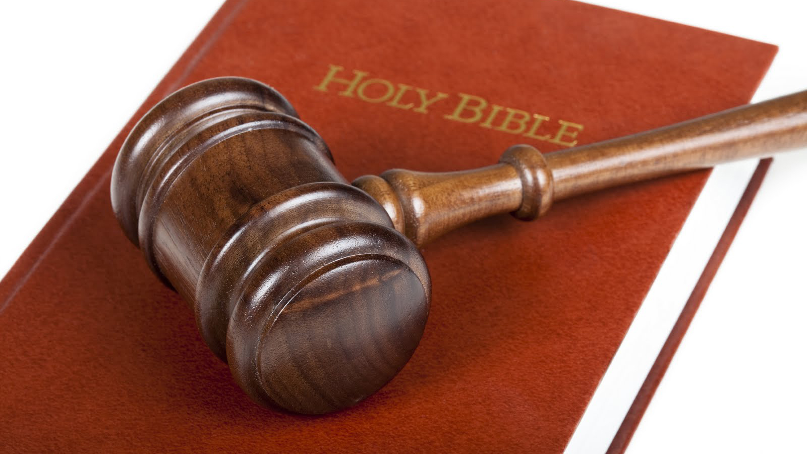 Gavel on top of a Bible