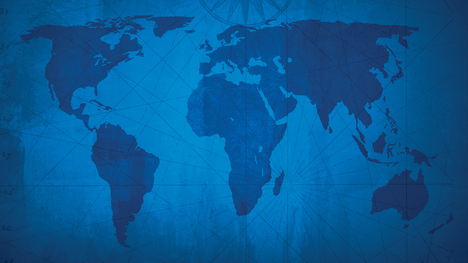 blue world map in a Mercator projection