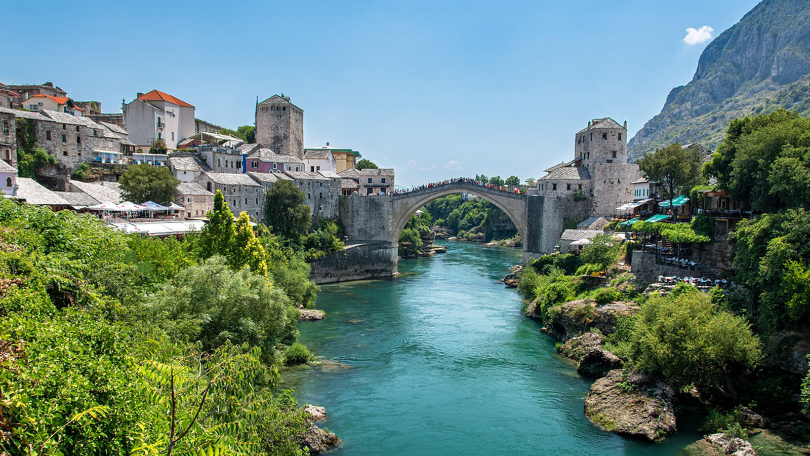Stari Most (Old Bridge) in Bosnia and Herzegovina.
