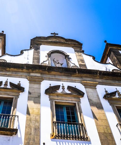 Facade of a church in Brazil