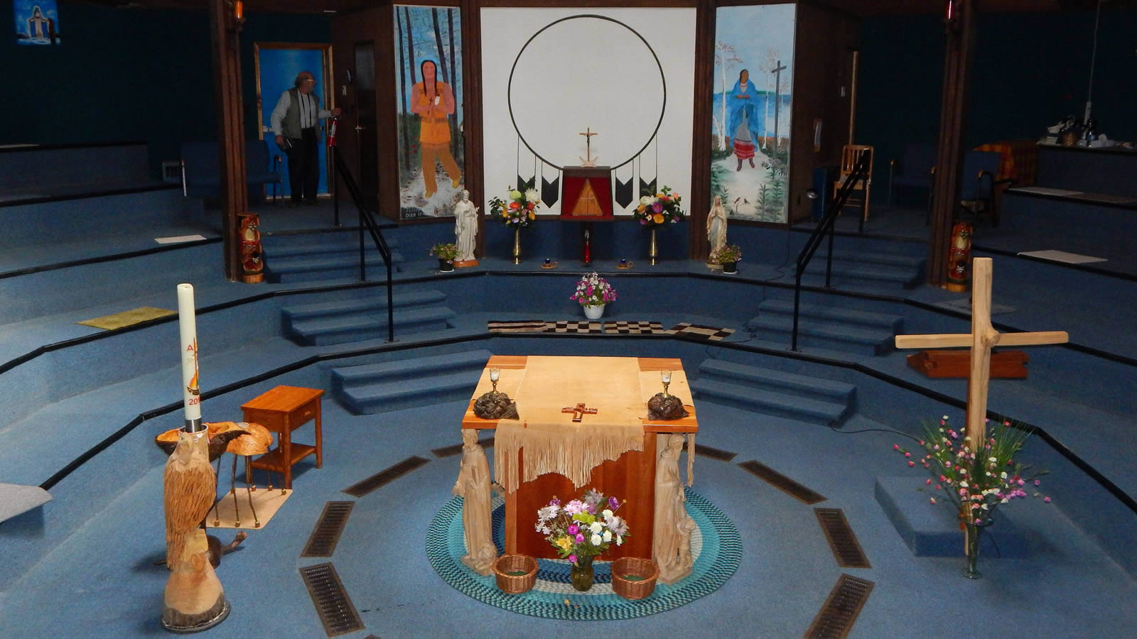 Catholic Church with First Nations Art