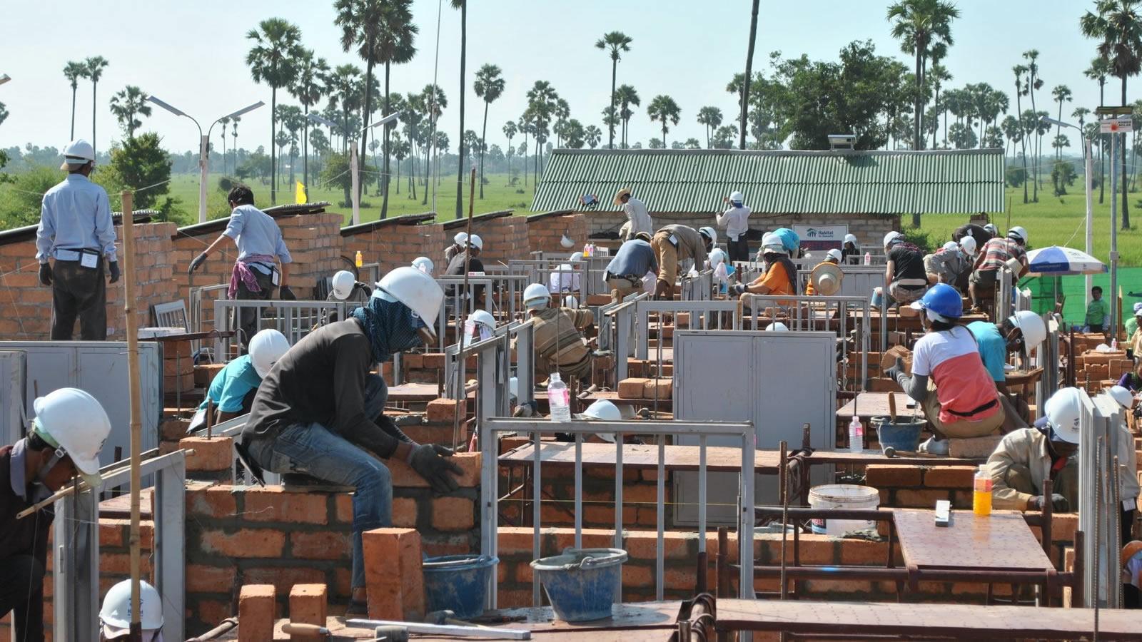Cambodia Habitat for Humanity Building Houses_landscape