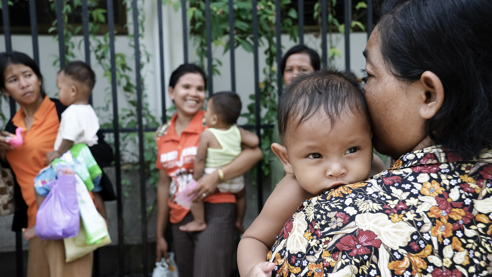 Cambodian Mothers Holding Babies
