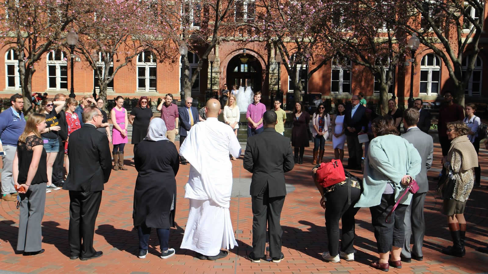 Campus Ministry and Center for Social Justice Chaplains Tea in Dahlgren Quad