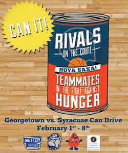 Can It! Georgetown vs. Syracuse Can Drive