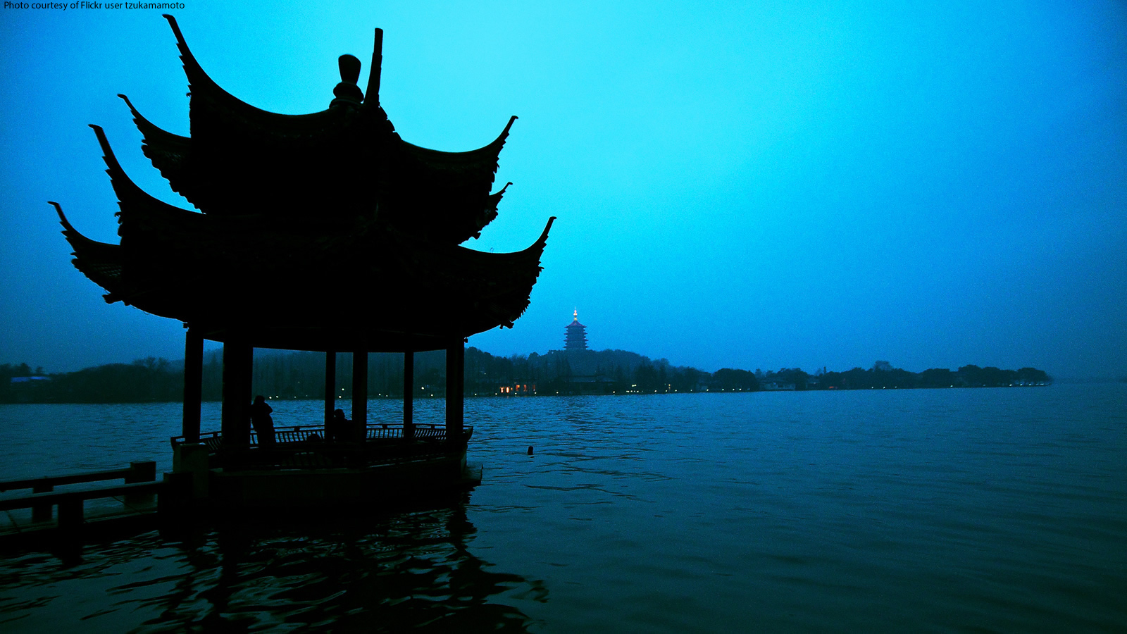 West Lake Jixian Pavilion in China