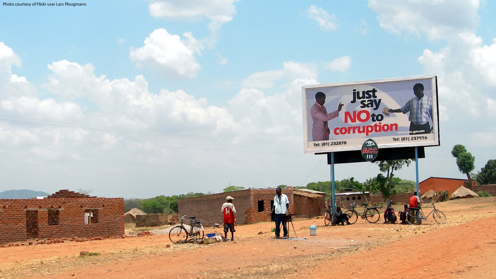 """Just Say No to Corruption"" Billboard in Africa"