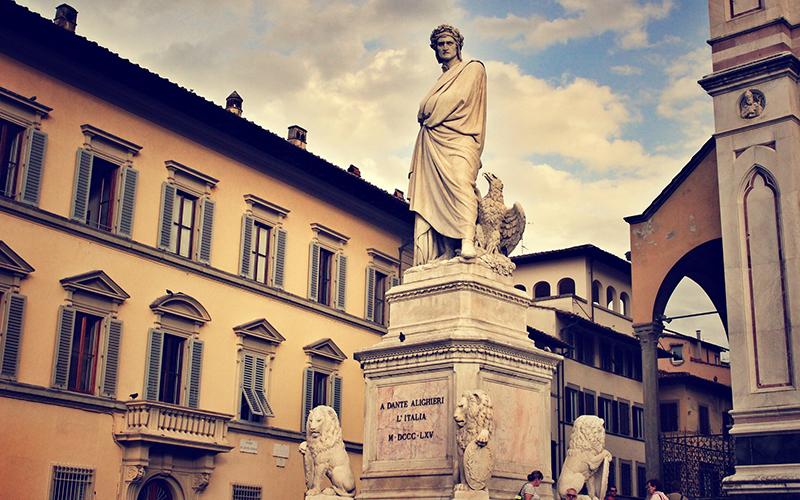 Statue of Dante in Italy.
