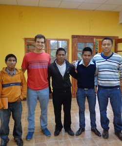 A Discussion with Domingo, Luis, Juan, Humberto, and Garzon, Development with Justice Scholarship Recipients, Rafael Landívar University, Cobán, Guatemala