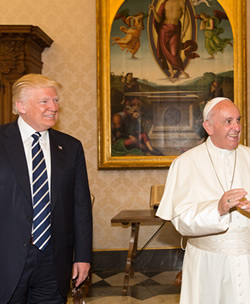 The Pope and Donald Trump