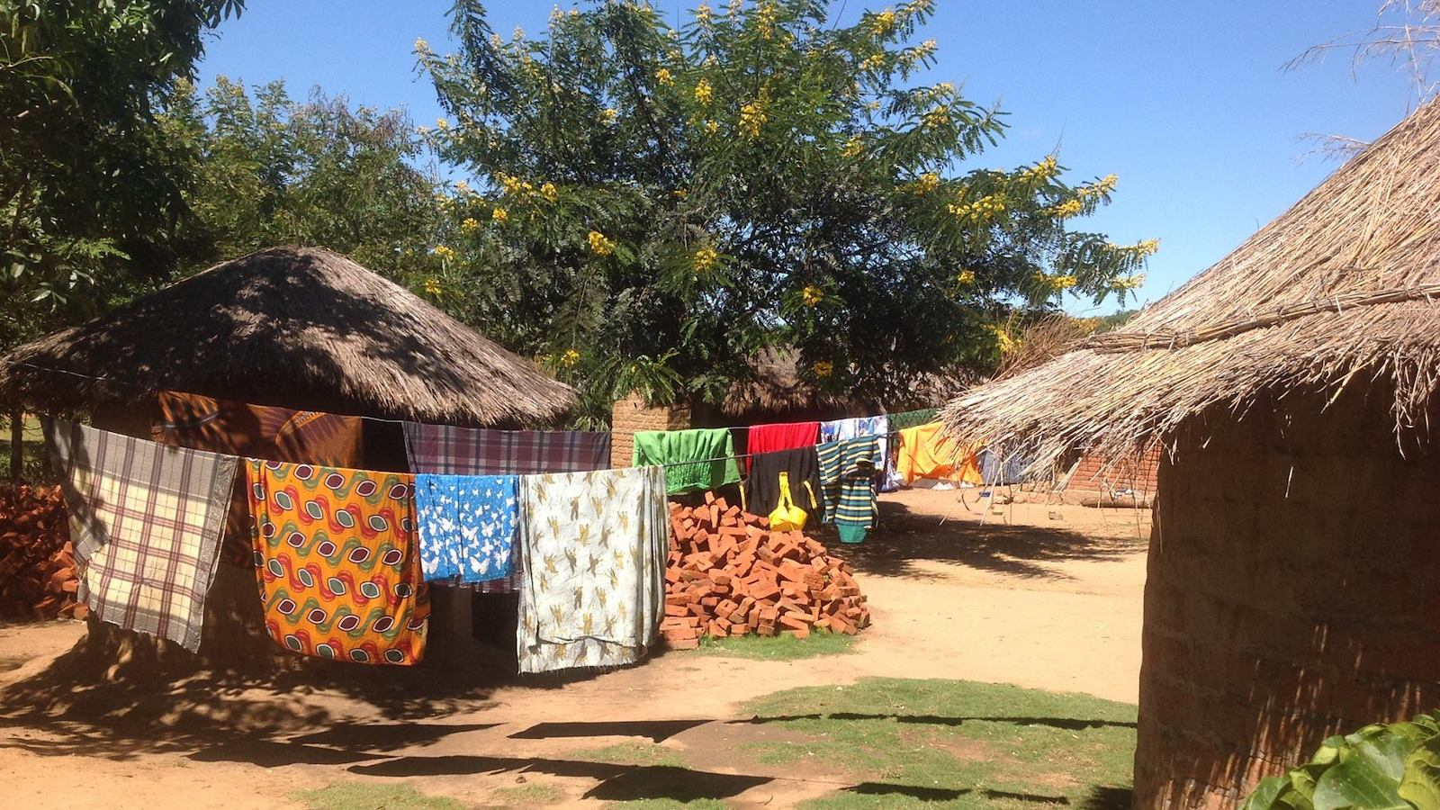 Inside view of a village in Mozambique