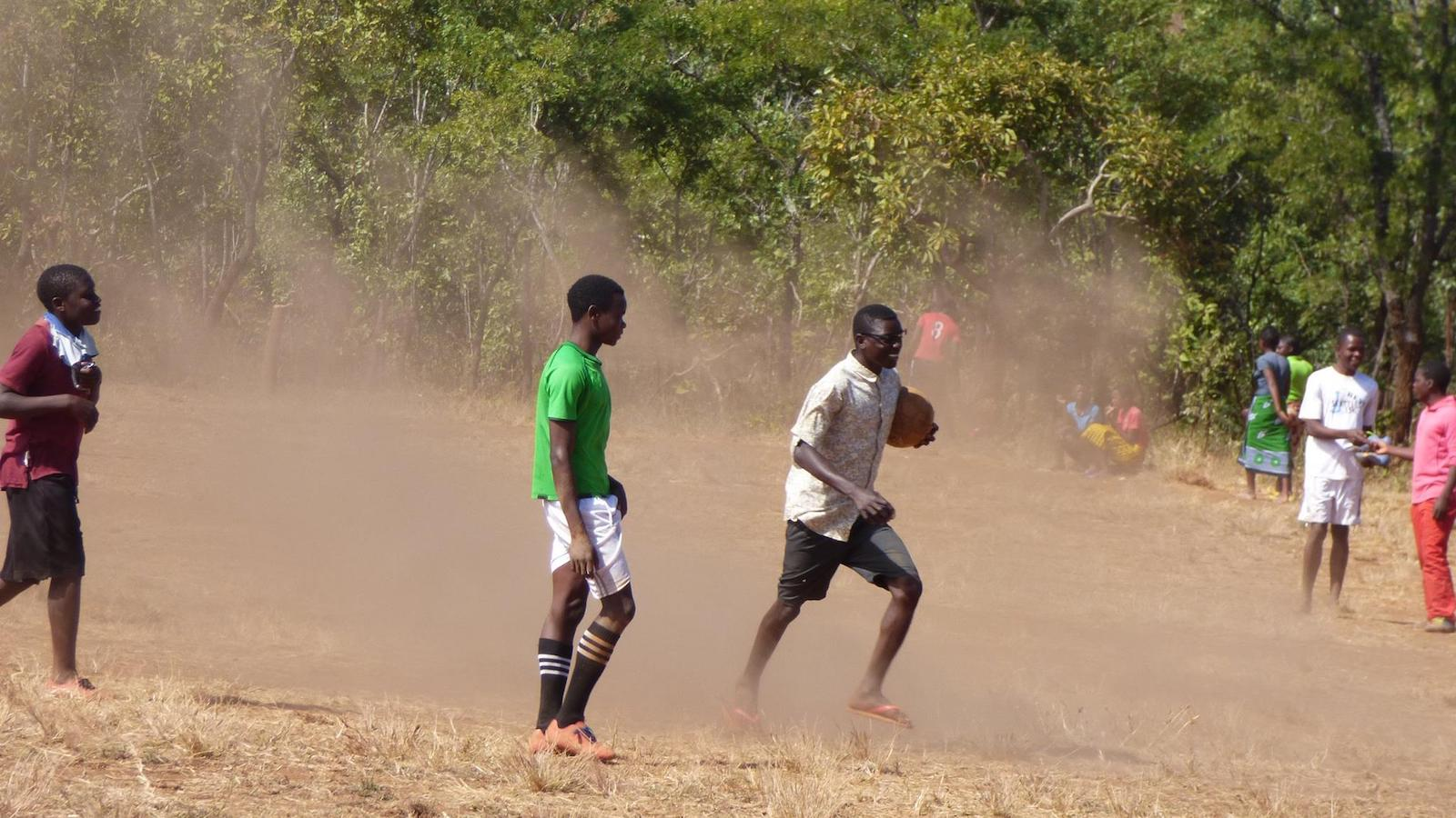 A soccer tournament in Mozambique