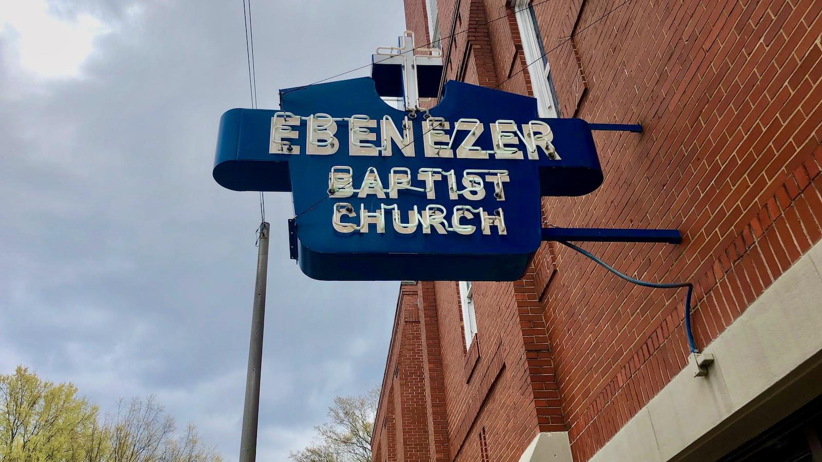 Ebenezer Baptist Church sign
