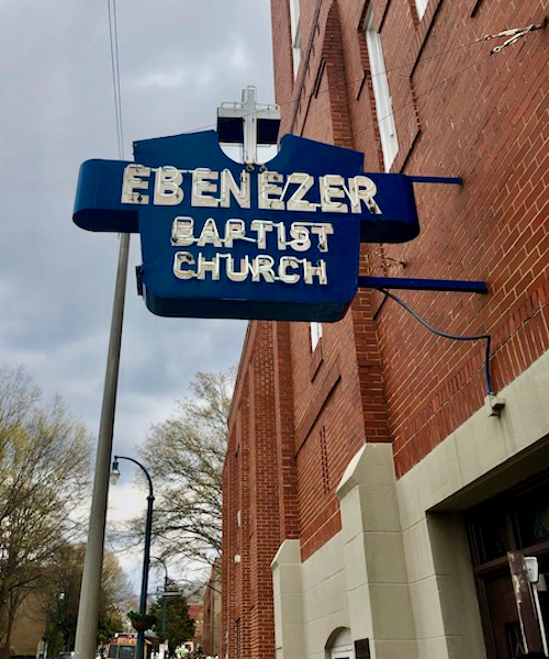 Ebenezer Baptist Church sign