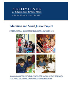 The Education and Social Justice Project: International Summer Research Fellowships 2012