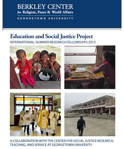 The Education and Social Justice Project: International Summer Research Fellowships 2013