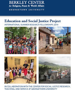 The Education and Social Justice Project: International Summer Research Fellowships 2014