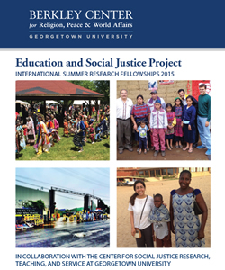 The Education and Social Justice Project: International Summer Research Fellowships 2015