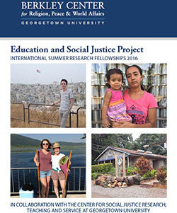 The Education and Social Justice Project: International Summer Research Fellowships 2016