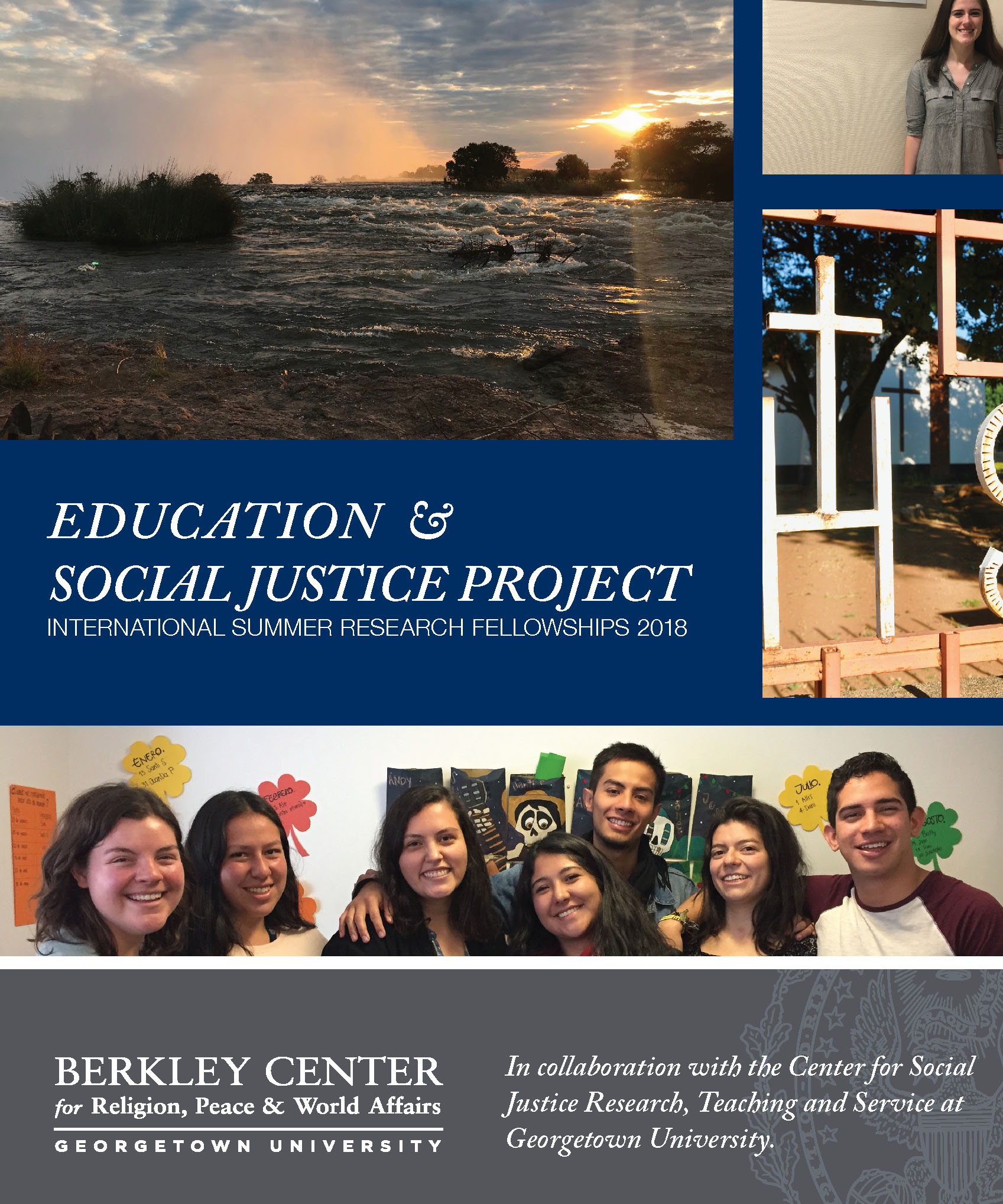 Report cover with images of student fellows