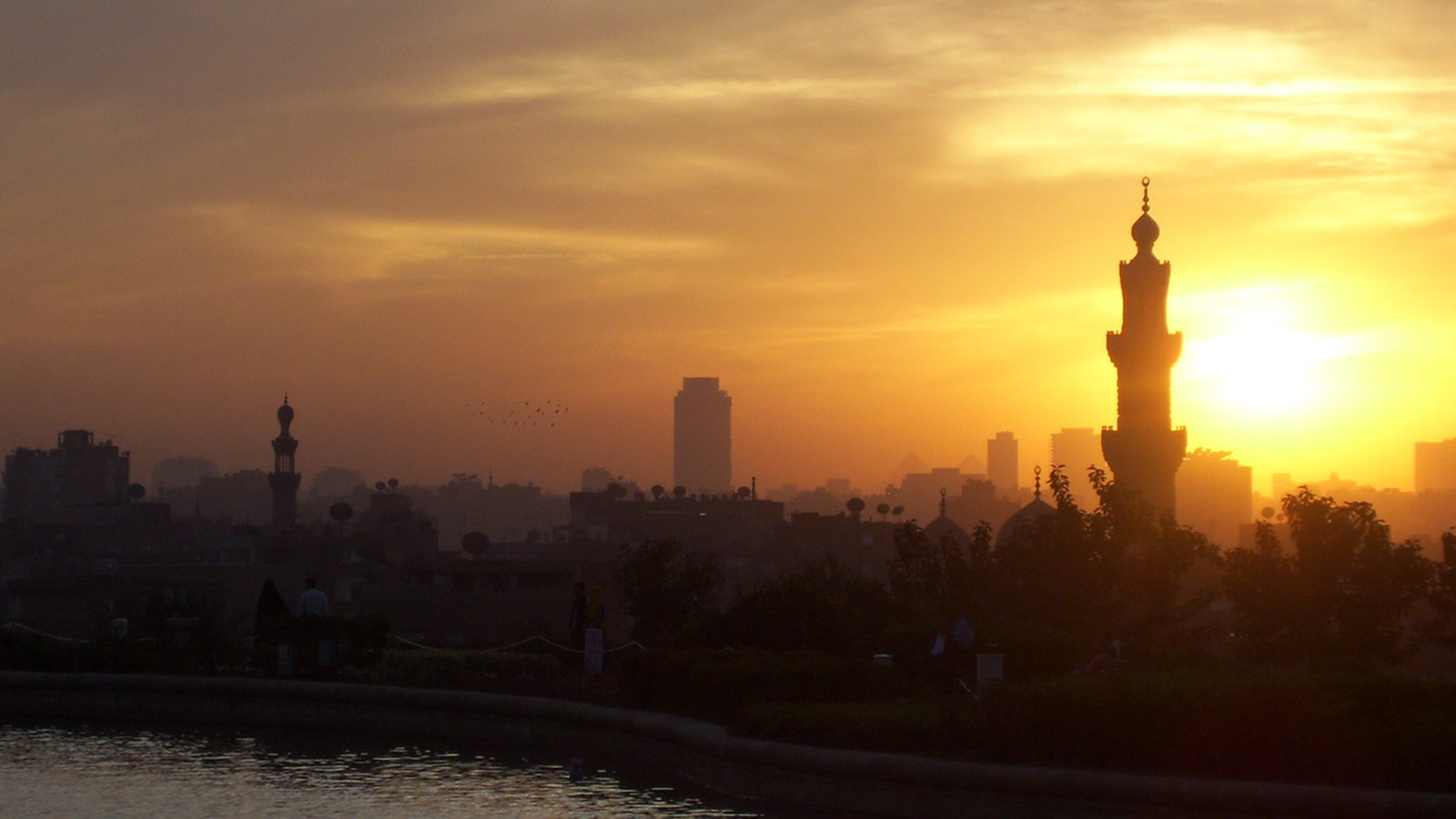 Cairo, Egypt Skyline with Minaret