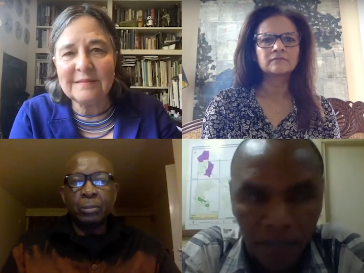 Panelists discuss food and faith responses to COVID-19 at a July 2020 event.