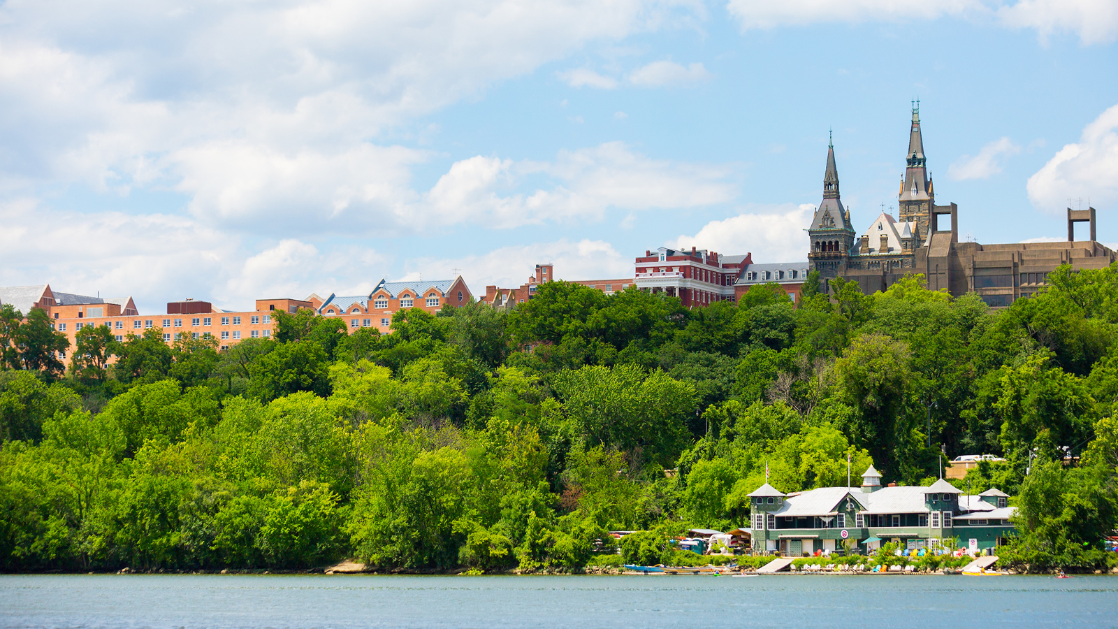 Georgetown University Skyline and Potomac River