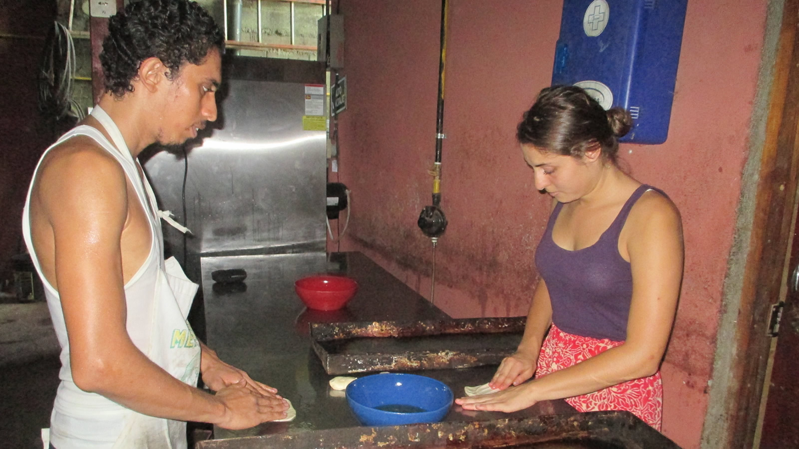 Gianna Maita Making Bread in Nicaragua