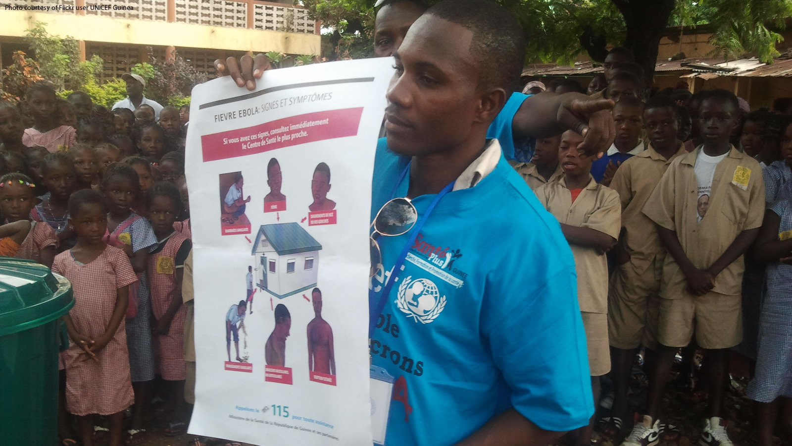 Ebola Education Poster by UNICEF Guinea