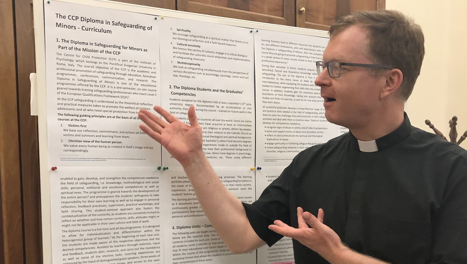 Fr. Hans Zollner at the Centre for Child Protection in Rome
