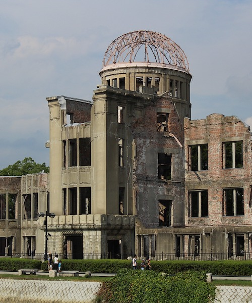 Bombed building with dome in the Hiroshima Peace Memorial, Japan