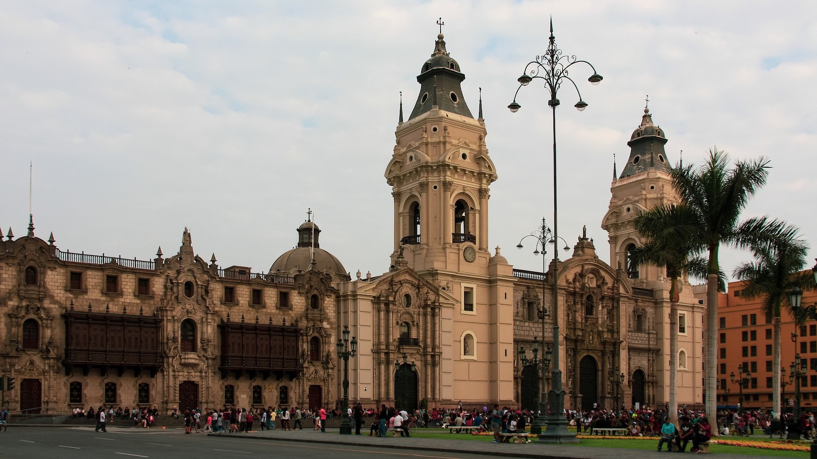 Historic building in downtown Lima, Peru