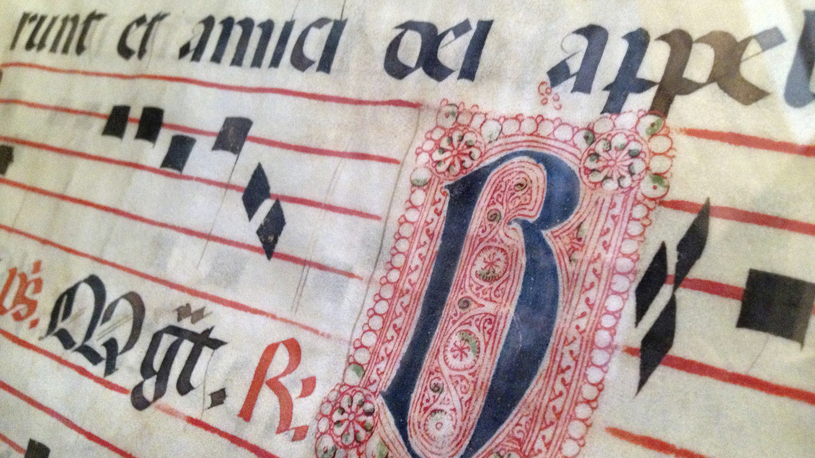 Illuminated Manuscript with Music