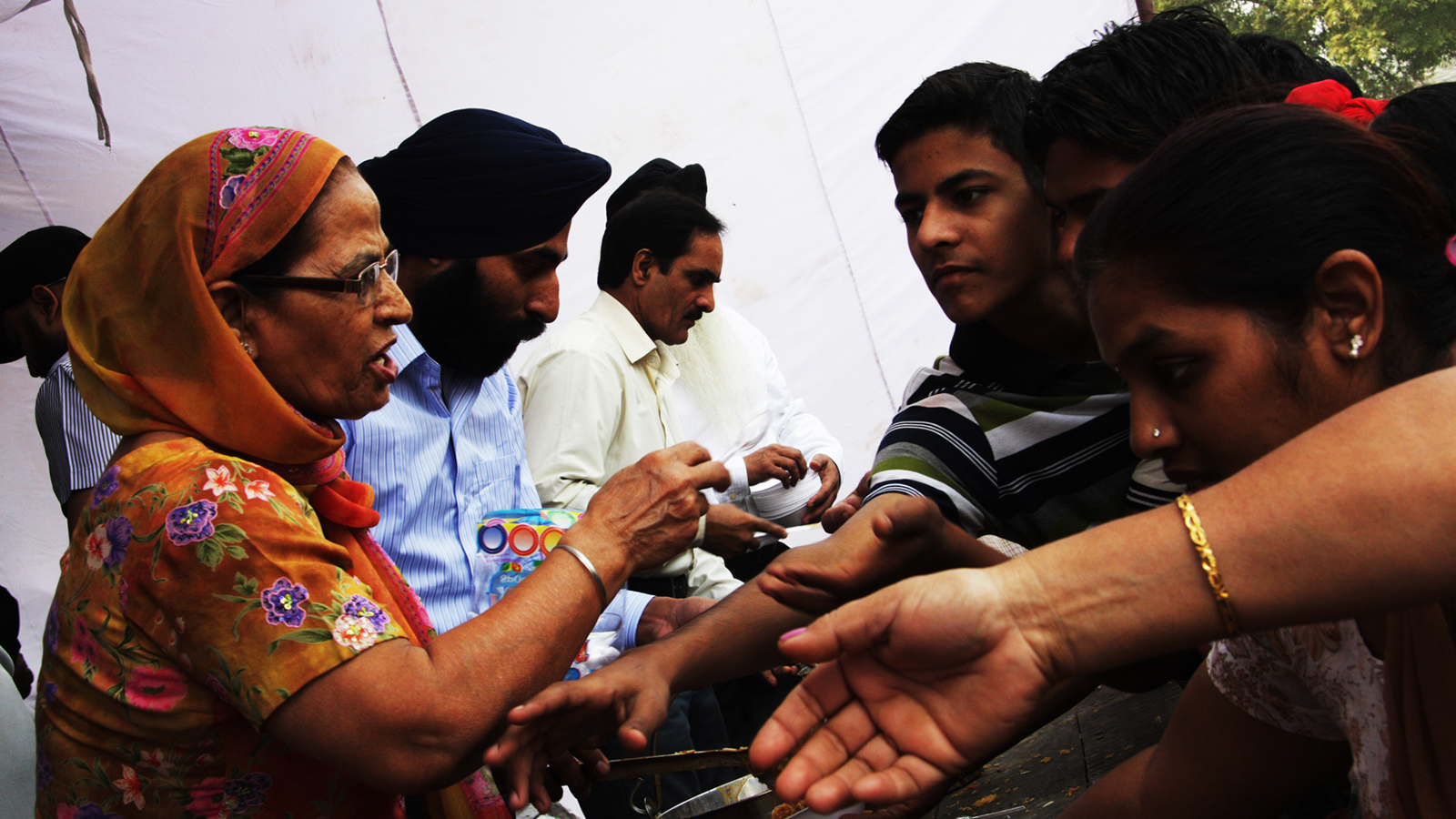 Sikh Food Distribution Tent in India
